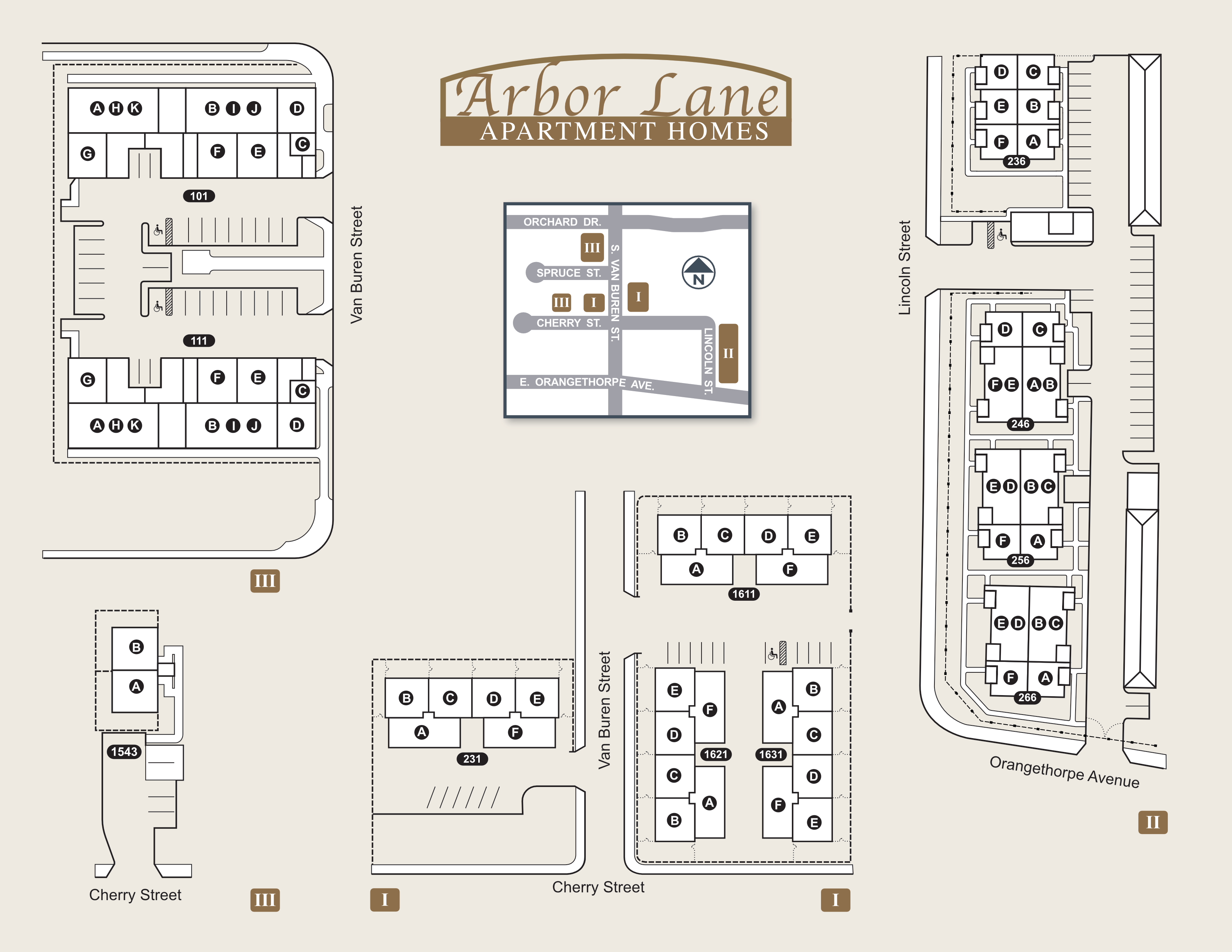 Arbor Lane Apartment Homes site map